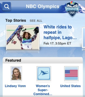 NBC Vancouver 2010 Olympics iPhone Application